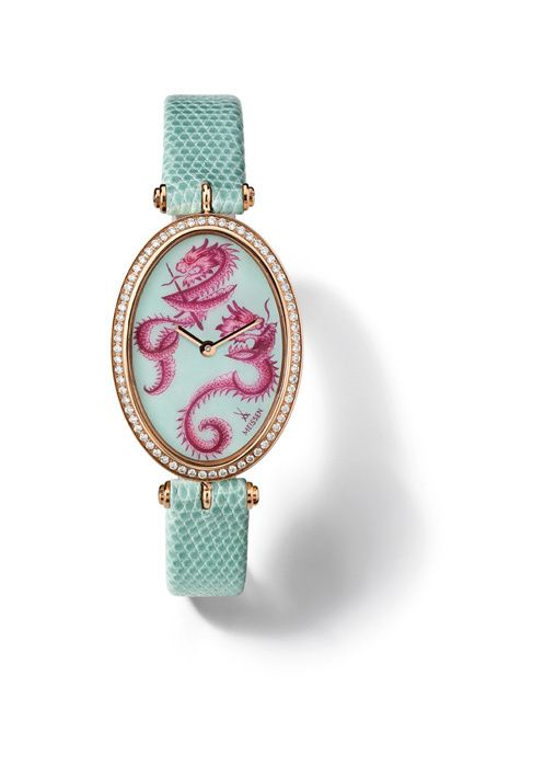 "MEISSEN® Joaillerie Timepiece, ""Lucky Dragon"", pavé"