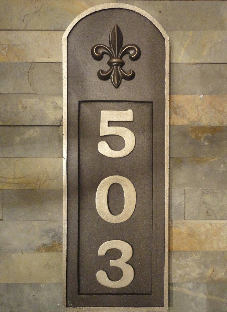 10 best street house numbers images on pinterest house for Front door number plaques