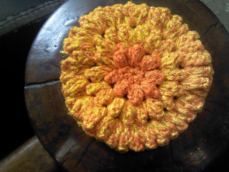 Flor de cempasúchil crochet