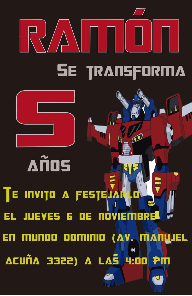 Invitacion Transformers
