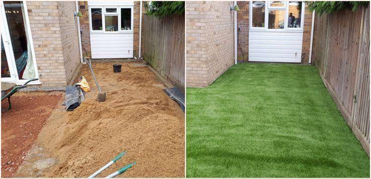 A Small Garden makeover using our top quality Artificial Grass, Bringing life back to your home and Garden