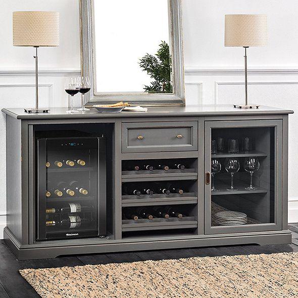 Wine Credenza Fridge Cabinet, Wine Cooler Cabinet Furniture