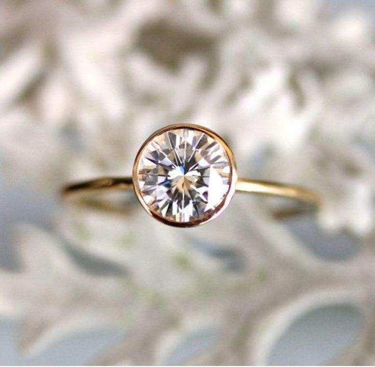 fine bezel set solitaire engagement ring