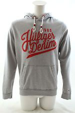 Tommy Hilfiger Denim Hilfiger Sweat à capuche sweat à capuche gris clair chiné taille L