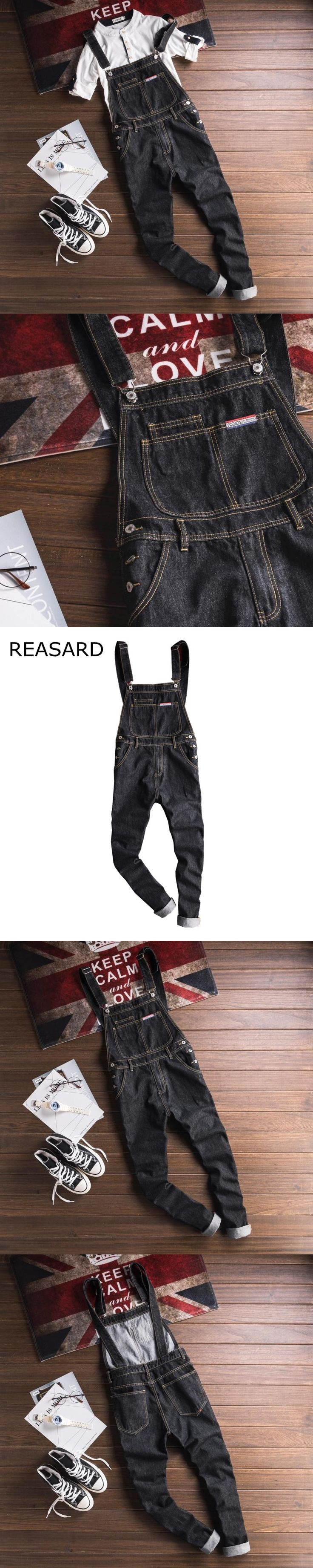 Mens Black Preppy Style Studen Overall,Autumn New Arrival High Quality Cotton Jumpsuit For Men