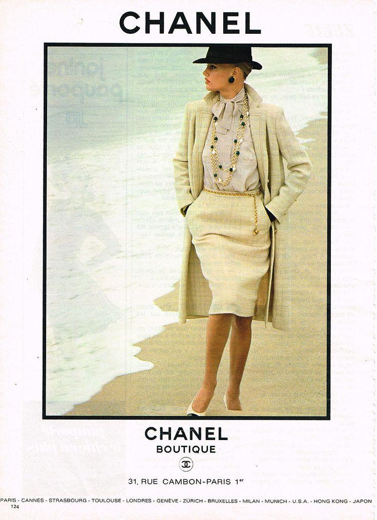Publicite Advertising 114 1981 Chanel Boutique Haute Couture | eBay