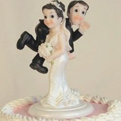 Bride Carrying Cake