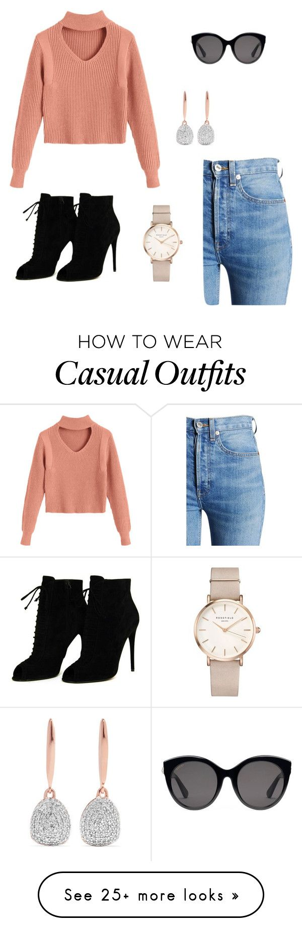 """Casual Chic"" by lgrand22 on Polyvore featuring RE/DONE, Gucci, ROSEFIELD, Monica Vinader and Tom Ford"