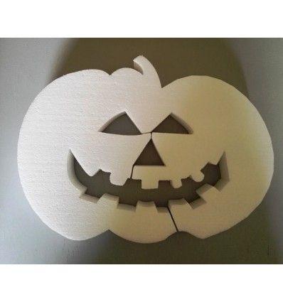 Zucca in polistirolo da colorare per addobbare le tue feste di Halloween. Acquista a soli € 3,00
