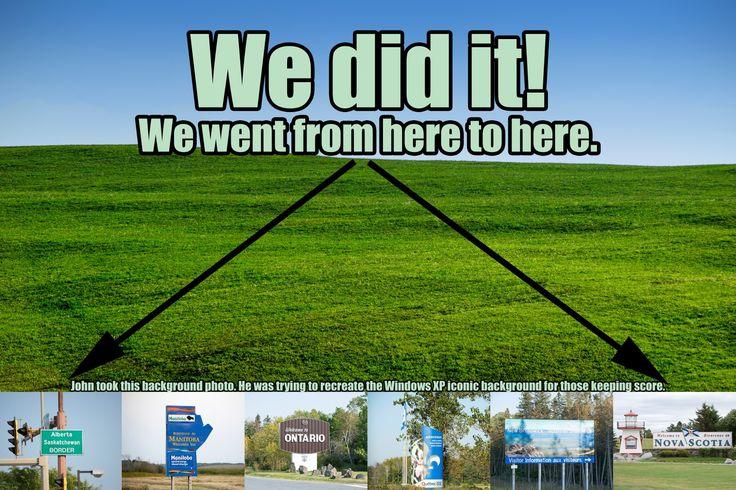 We did it! Alberta to Nova Scotia.