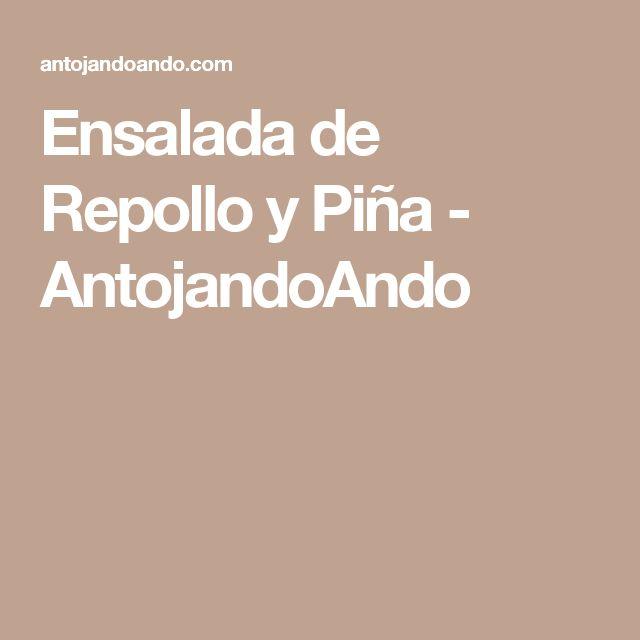 Ensalada de Repollo y Piña - AntojandoAndo