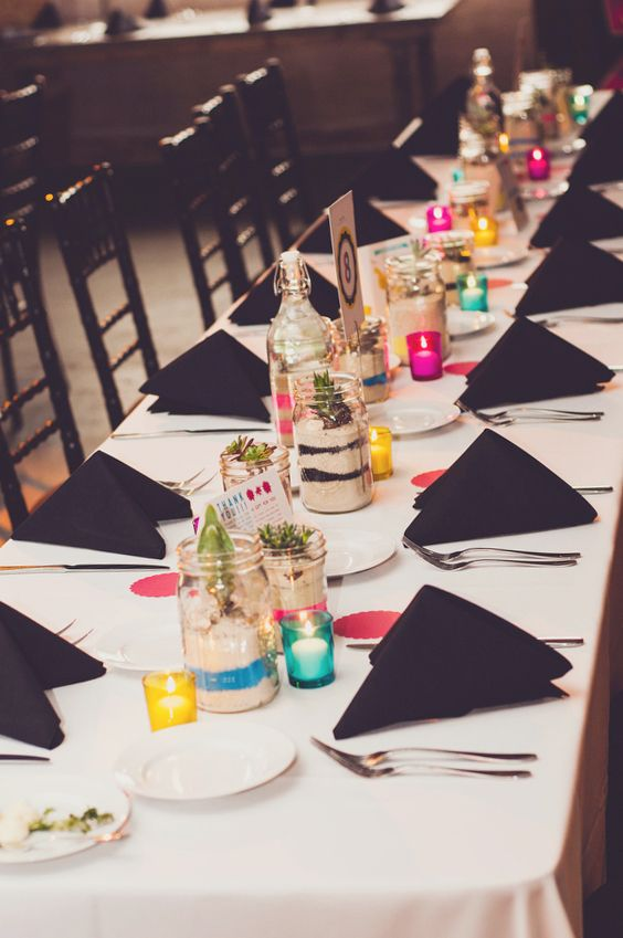 CMYK color inspired tablescape.