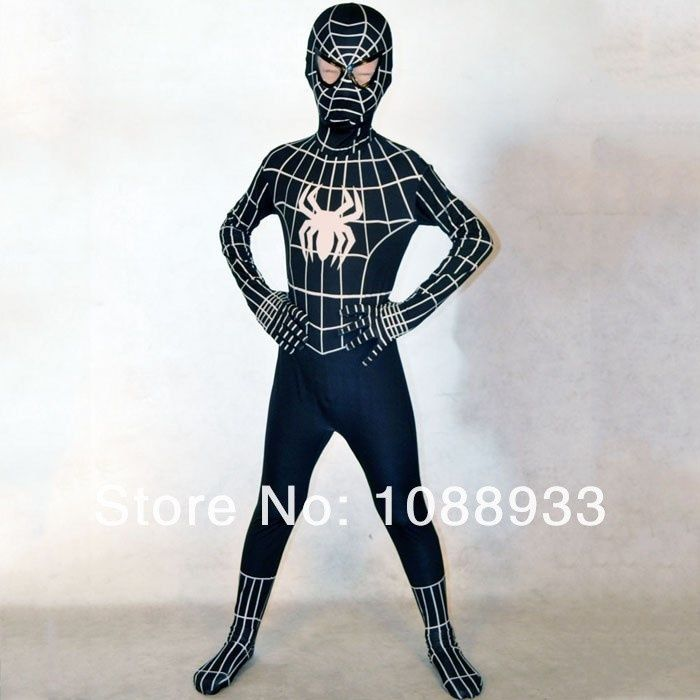 Red /Black spiderman costume kids Halloween costumes for kids Children superHero Cosplay Spandex zentai Full bodysuit