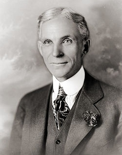 Henry Ford died from a cerebral hemorrhage at his Dearborn Estate on April 7, 1947.  He is buried in the Ford Cemetery in Detroit.  His only son, Edsel died from cancer in 1947 and grandson, Henry Ford II took over running Ford Motor Co.