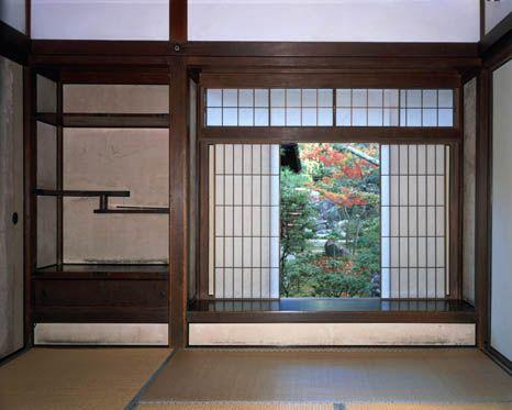 [Omote senke] tea room: Togudo Dojinsai.  [表千家不審菴]東求堂 同仁斎内部