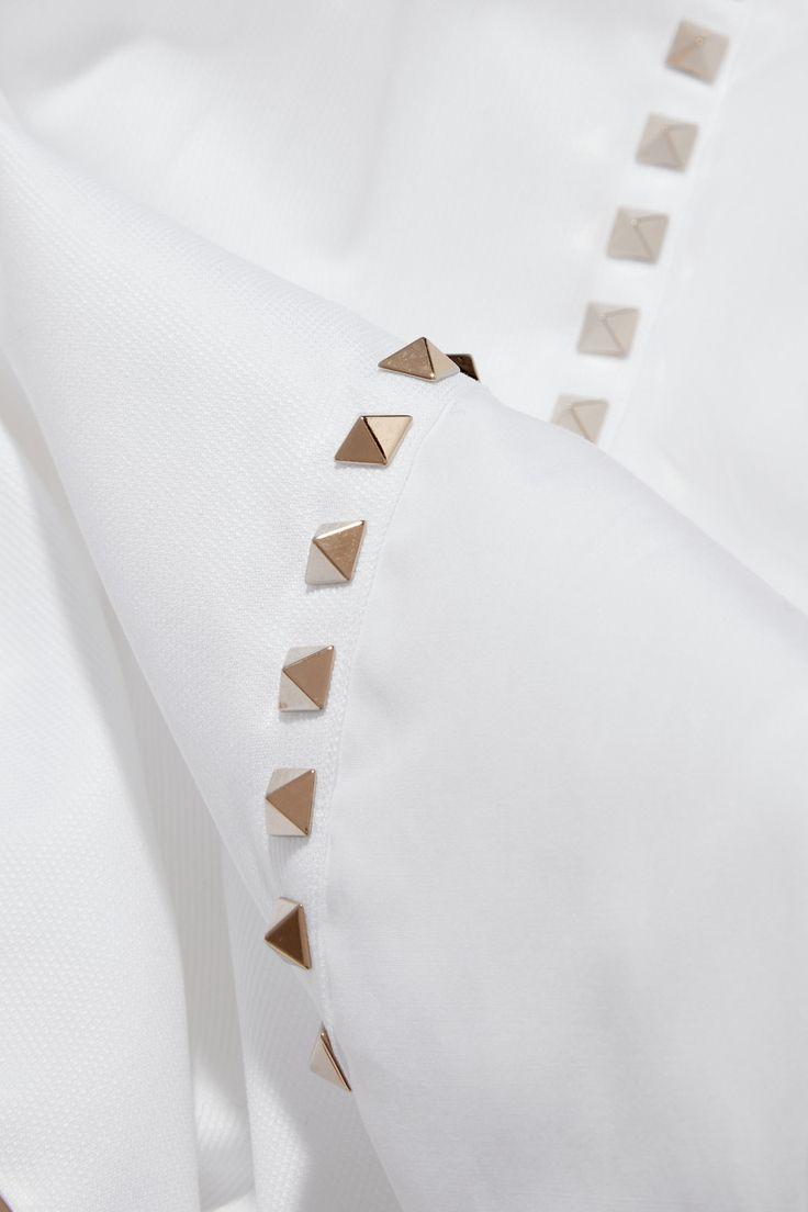 Valentino   Studded cotton-poplin shirt   NET-A-PORTER.COM