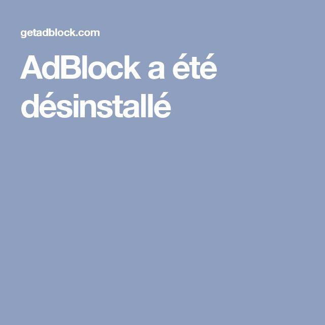 AdBlock a été désinstallé