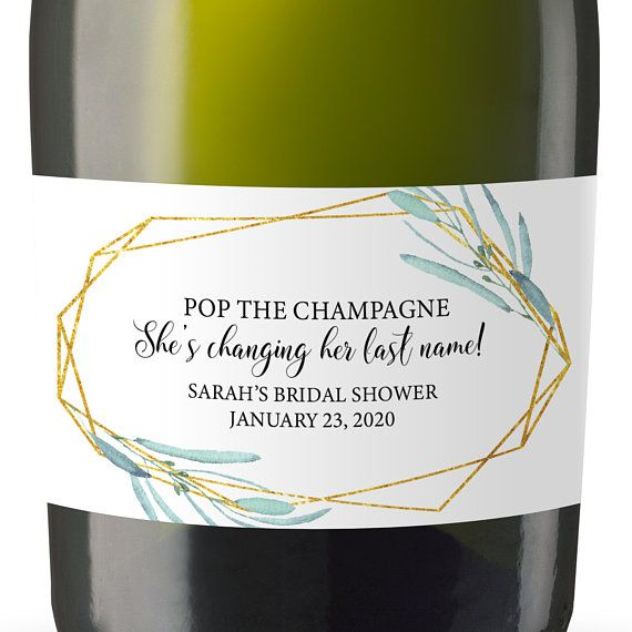 8dbf2cf678be Pop the champagne, She's changing her last name! Mini champagne ...