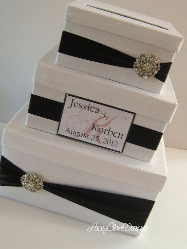 Wedding Gift Card Money Box Holder Custom by LaceyClaireDesigns
