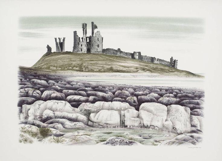 'Dunstanburgh Castle' by David Gentleman, 1973 (lithograph on paper)