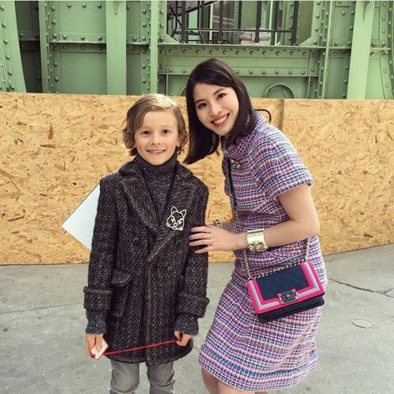 @Naoko Asano With adorable Hudson Kroenig