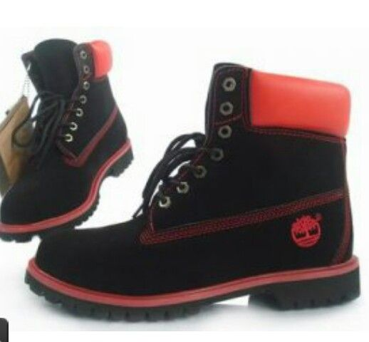 Timberland boots black & red