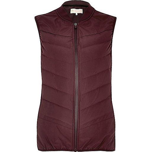 RI Active burgundy padded sports gilet - jackets - coats / jackets - women