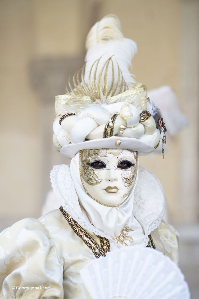 Carnival Costume, Venice, Italy, by Georgianna Lane