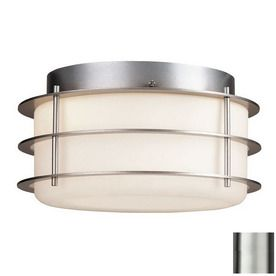 Philips Forecast Hollywood Hills 10-in W Vista Silver Outdoor Flush Mount Light 142.20