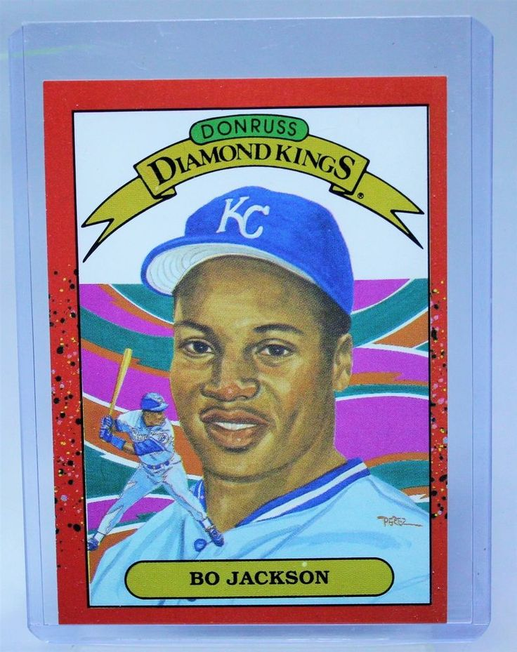 1990 donruss bo jackson diamond kings baseball card new