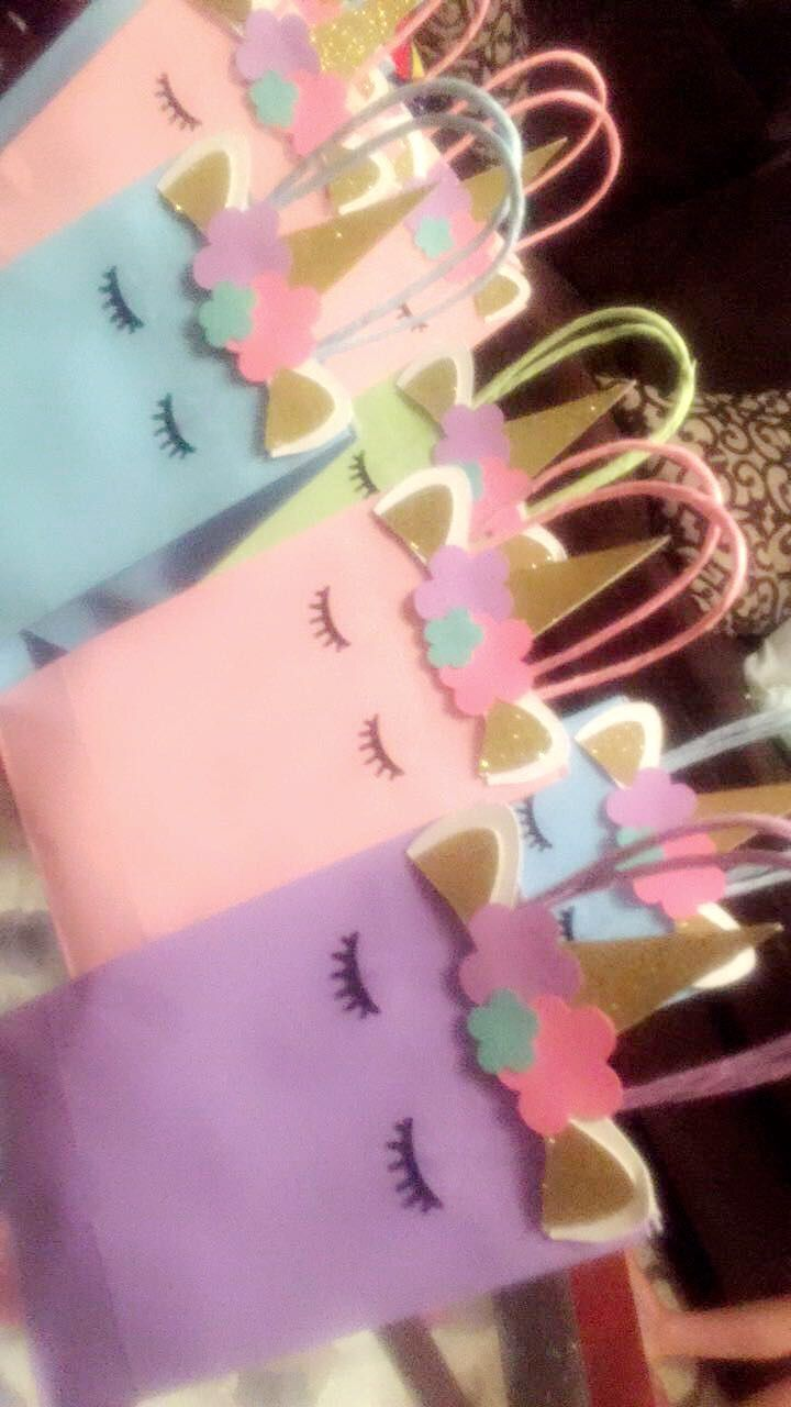 Unicorn treat bags