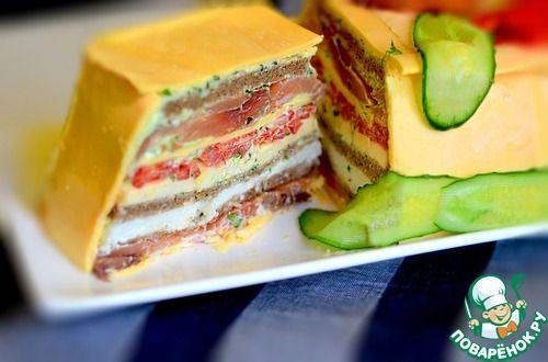 Сырный закусочный торт - кулинарный рецепт
