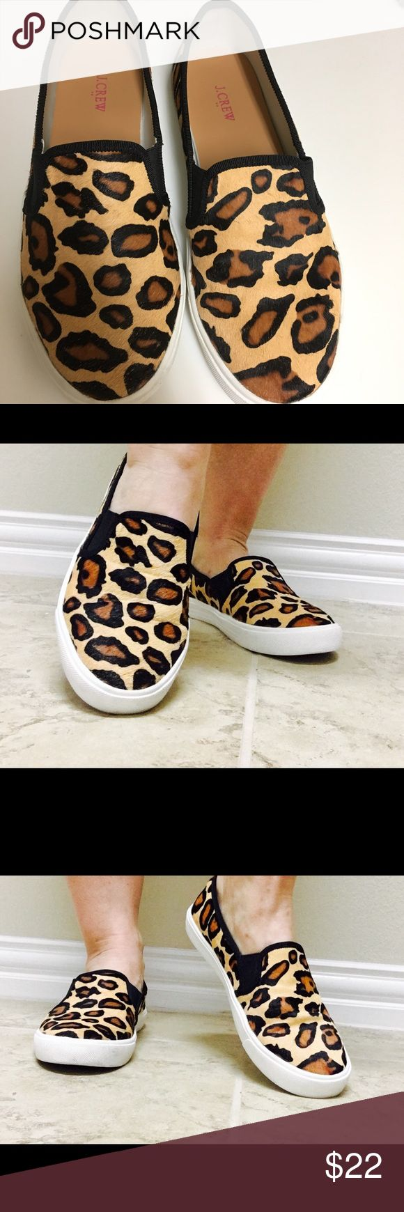 J. Crew Pony Hair Leopard Print Slip on Sneakers J. Crew Slip on Sneakers in Leopard Print. Great used condition! J. Crew Shoes Sneakers