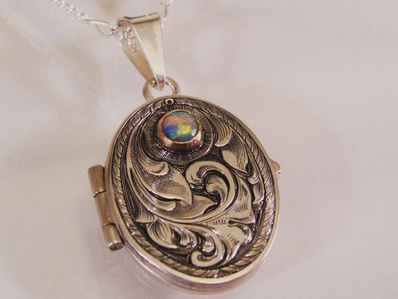 Hand Engraved Art Nouveau Inspired Sterling by JelliesJewelry, $405.00