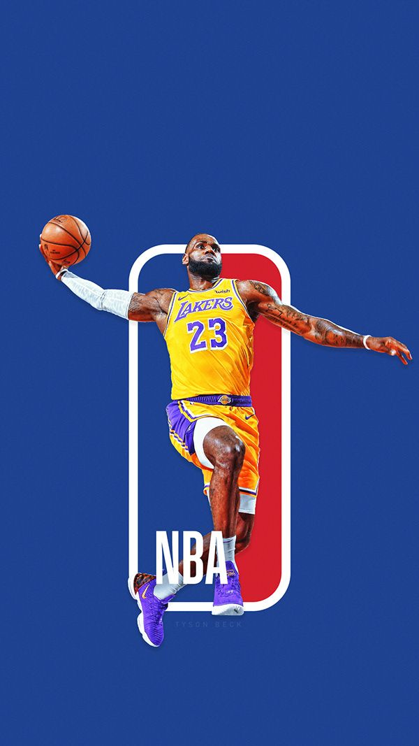 9ba1c81fc9a The Next NBA logo  NBA Logoman Series on Behance Lebron James Wallpapers