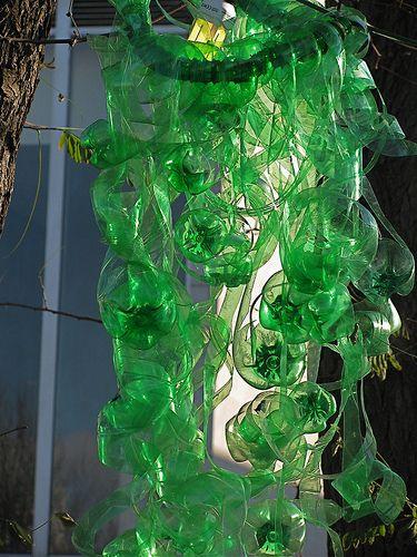 16 best plastic water bottle art images on pinterest for Plastic water bottle art