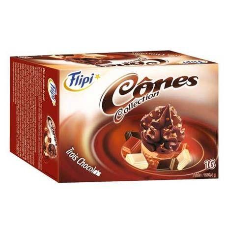 Cônes 3 chocolats x 16