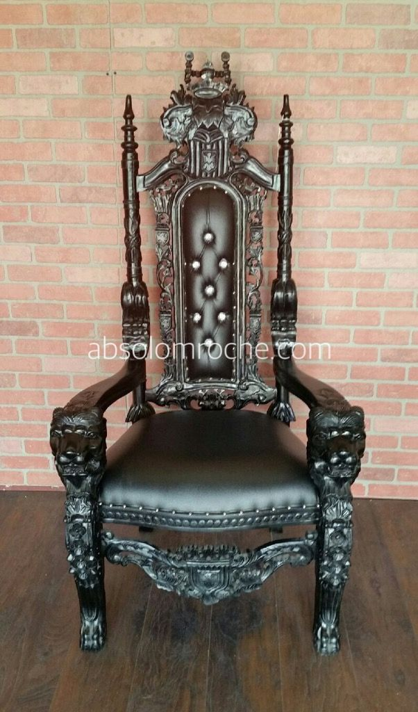 flash sale lord raffles lion throne chair blackblack