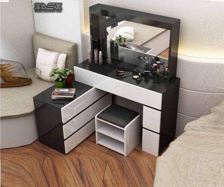 30 Modern Bedroom Design Ideas: Latest Modern Corner Dressing Tables For Small Bedroom
