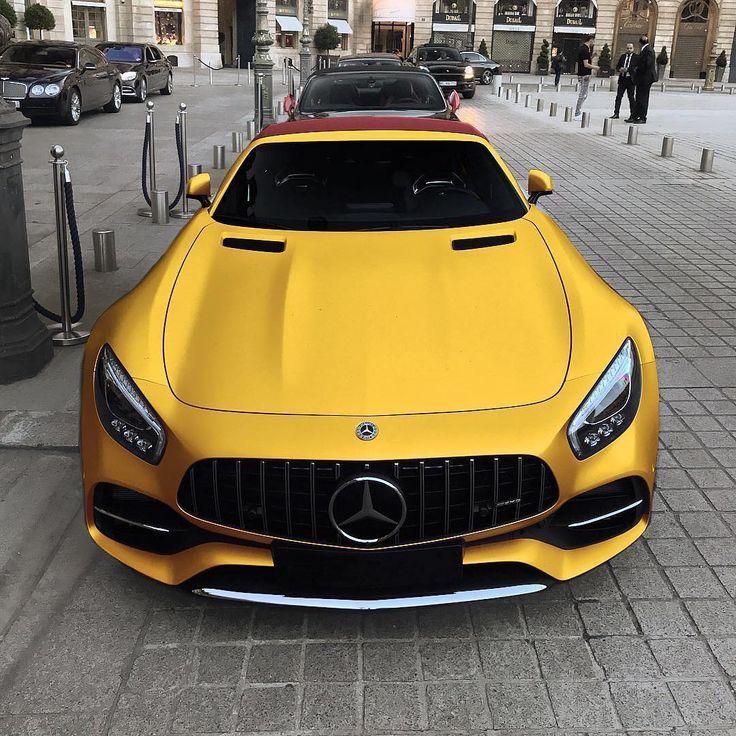 "Luxury | Cars | Millionaires on Instagram: ""Golden Mercedes Benz AMG GT C Road… – Cars"