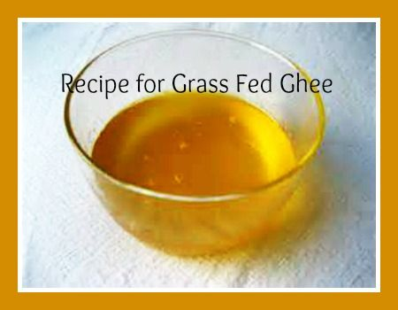 Recipe for Grass Fed Ghee Never thought I'd come across this.