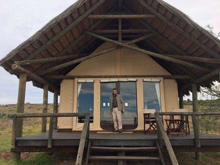Our luxury tent at the Gorah Elephant Camp in Addo National Park, South Africa