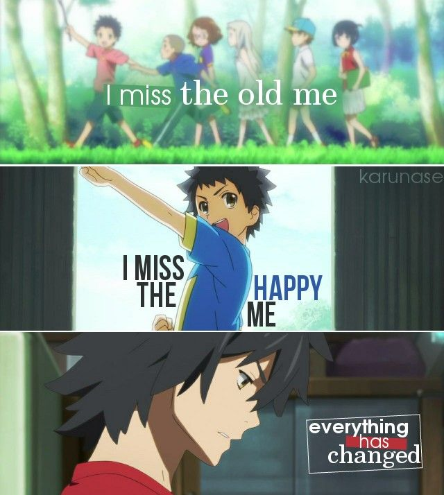 """I miss the old me, I miss the happy me. Everything has changed.."" 