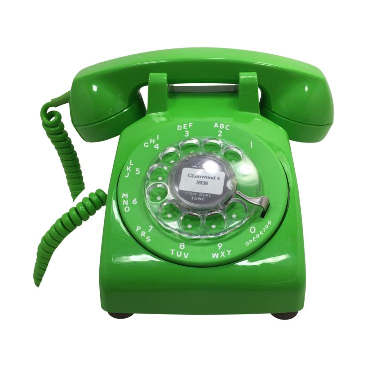 Lime Green S.C. Rotary Dial 500 Desk Phone