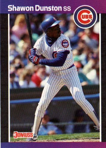 Chicago cubs 1989 | CHICAGO CUBS - Shawon Dunston #137 DONRUSS 1989 MLB Baseball Trading ...