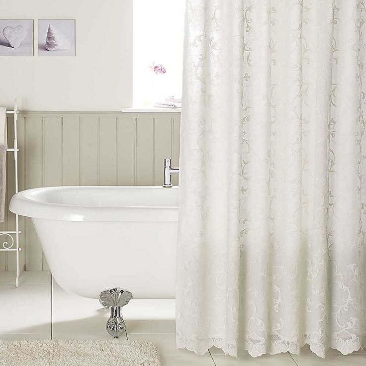 Superior Lace Shower Curtain