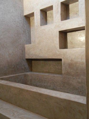 tadelakt parete con nicchie - Tadelakt Dusche Boden