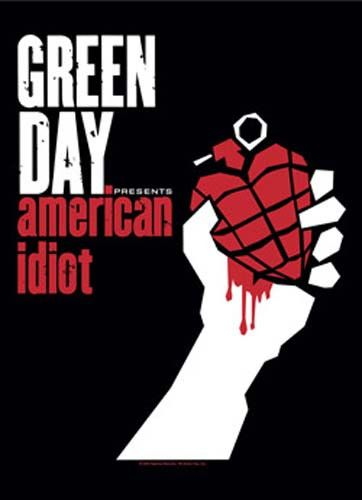 Green Day American Idiot Fabric Poster