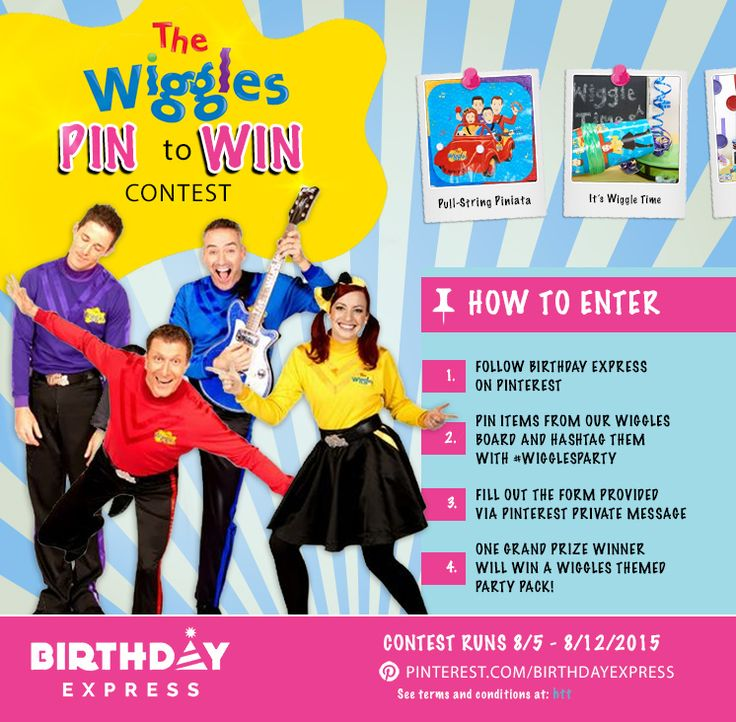 Announcing The Wiggles Pin To Win Contest! How To Enter: 1