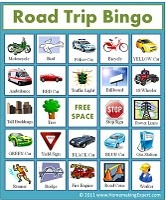 Road trip BINGO.....these are on sale at Chapters right now....pick some up quick, they're so fun on road trips!